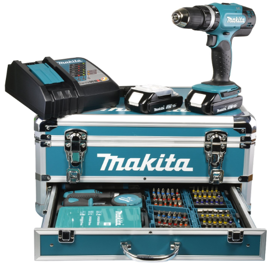 perceuse visseuse à percussion Makita DHP453RYX2